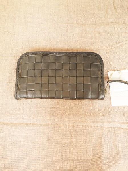 画像1: 【送料無料】アロマドミュゲ レザー メッシュ財布/ブラック (1)