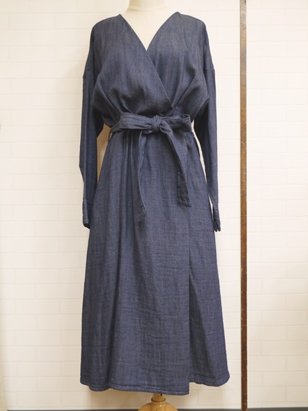画像1: 【2020 S/S SALE NA 40%OFF】マルクドブロデュー Denim dual layered dress/OWS (1)