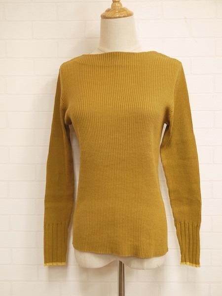 画像1: 【2020 S/S SALE 50%OFF】マルクドブロデュー Cotton inner knit rib bottleneck P/O/CA (1)