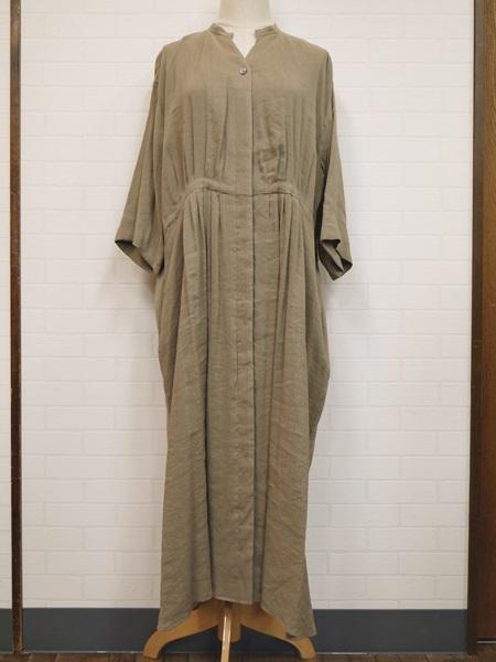 画像1: 【2020 S/S SALE 50%OFF】MB VISCOSE LINEN LAWN dress/黄土 (1)