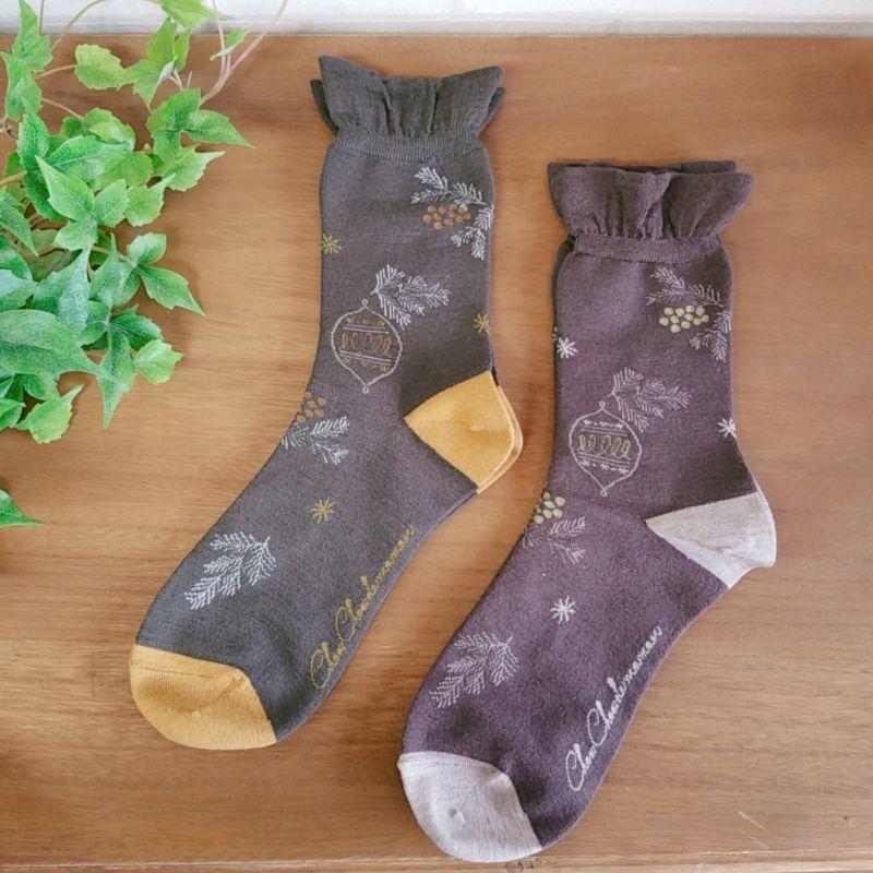 画像1: 靴下 スチャーナ aroma de muguet (1)