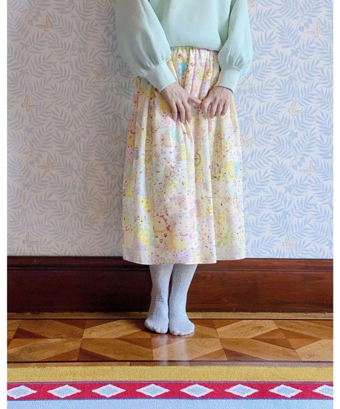 画像1: N様ご予約品【M】ふんわりタックスカート yukiemon (1)