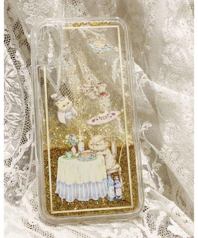 画像1: A・S様ご予約品【対応機種選べます】トゥインクルiPhoneケース/モーニングスーちゃん(ゴールド) yukiemon (1)