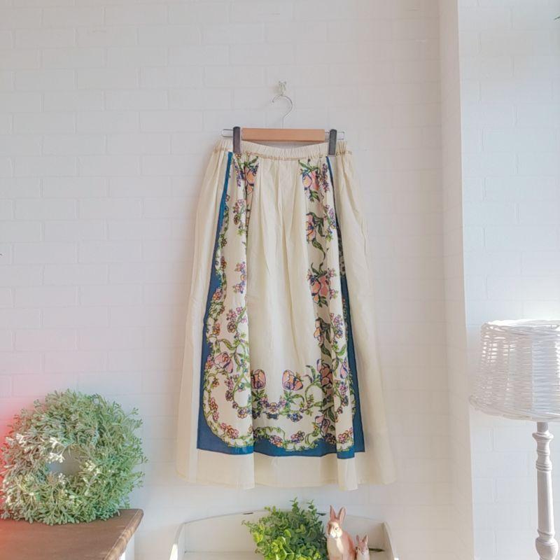 画像1: スカート ポピー/ホワイト  KILKI (1)