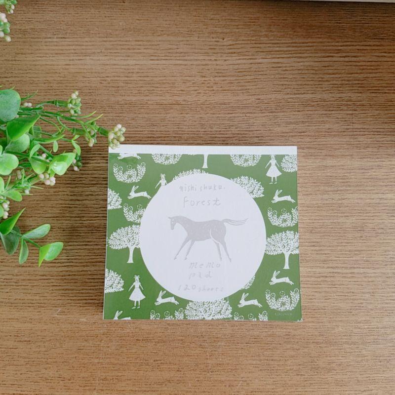 画像1: 西淑ブロックメモ Forest4柄 表現社 (1)